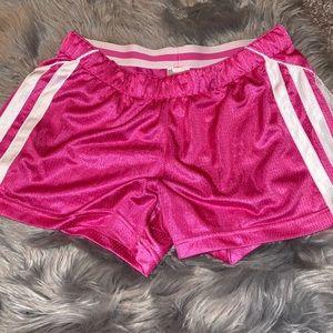 Hot pink Adidas shorts